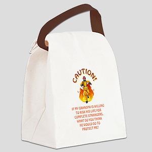 CAUTION/GRANDPA Canvas Lunch Bag