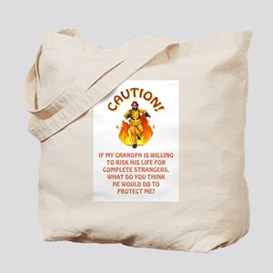CAUTION/GRANDPA Tote Bag