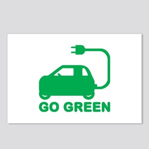 Go Green ~ Drive Electric Cars Postcards (Package