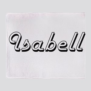 Isabell Classic Retro Name Design Throw Blanket