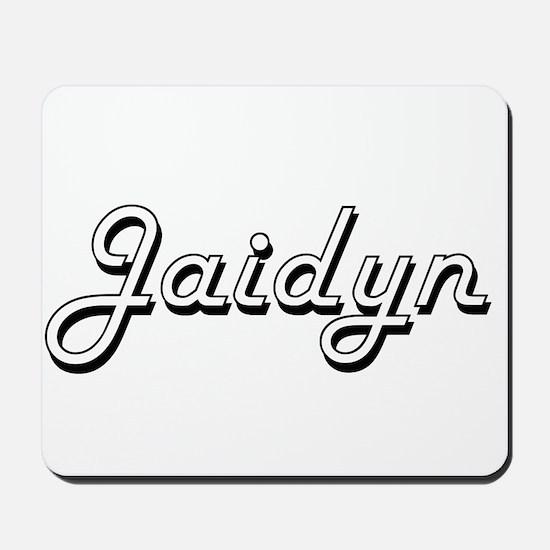 Jaidyn Classic Retro Name Design Mousepad