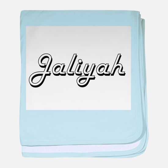 Jaliyah Classic Retro Name Design baby blanket