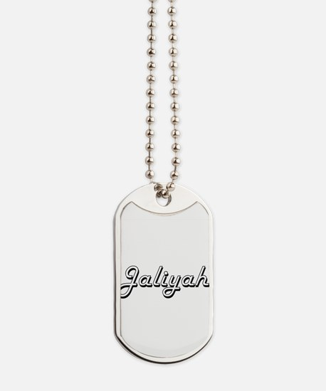 Jaliyah Classic Retro Name Design Dog Tags