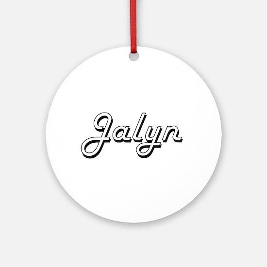 Jalyn Classic Retro Name Design Ornament (Round)
