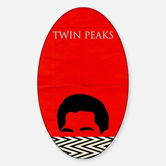 Agent Cooper - Twin Peaks Sticker (Oval)