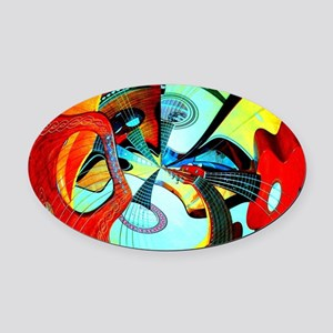 Diafora Enchorda Oval Car Magnet