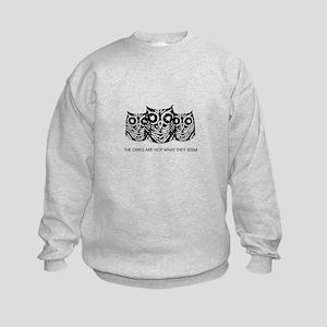 """""""The Owls..."""" - Twin Peaks Kids Sweatshirt"""