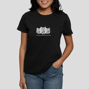 """""""The Owls..."""" - Twin Peaks Women's Dark T-Shirt"""