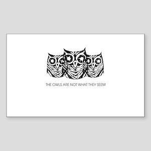 """The Owls..."" - Twin Peaks Sticker (Rectangle)"