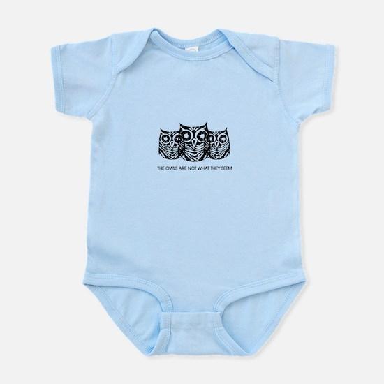 """""""The Owls..."""" - Twin Peaks Infant Bodysuit"""