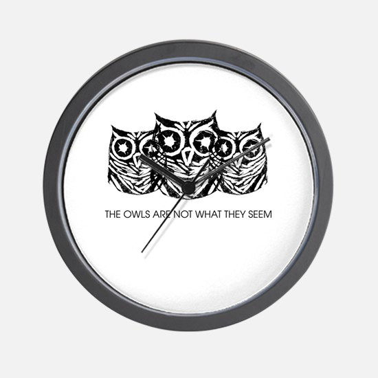 """The Owls..."" - Twin Peaks Wall Clock"