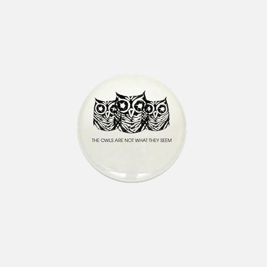 """The Owls..."" - Twin Peaks Mini Button"