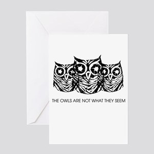 """""""The Owls..."""" - Twin Peaks Greeting Card"""