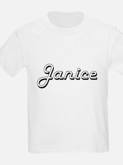 Janice Classic Retro Name Design T-Shirt