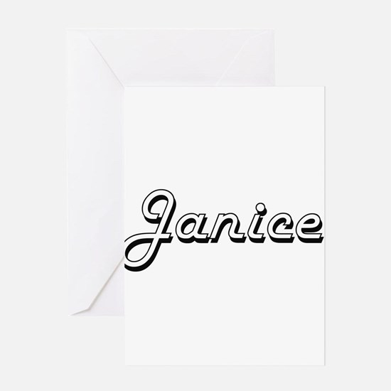 Janice Classic Retro Name Design Greeting Cards