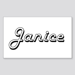 Janice Classic Retro Name Design Sticker