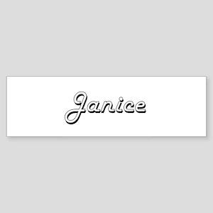 Janice Classic Retro Name Design Bumper Sticker