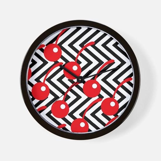Black Lodge Cherries - Twin Peaks Wall Clock