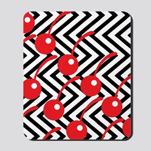 Black Lodge Cherries - Twin Peaks Mousepad