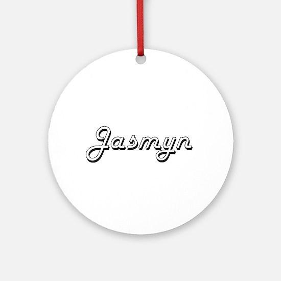Jasmyn Classic Retro Name Design Ornament (Round)