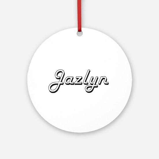 Jazlyn Classic Retro Name Design Ornament (Round)
