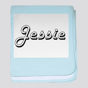 Jessie Classic Retro Name Design baby blanket