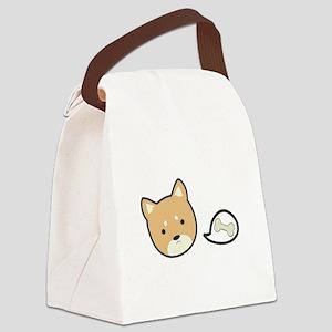 Hungry Shiba Canvas Lunch Bag