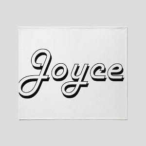 Joyce Classic Retro Name Design Throw Blanket
