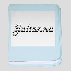 Julianna Classic Retro Name Design baby blanket