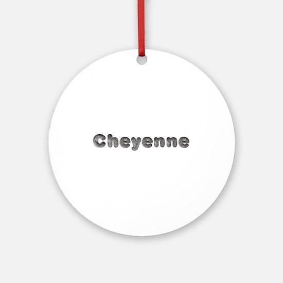 Cheyenne Wolf Round Ornament