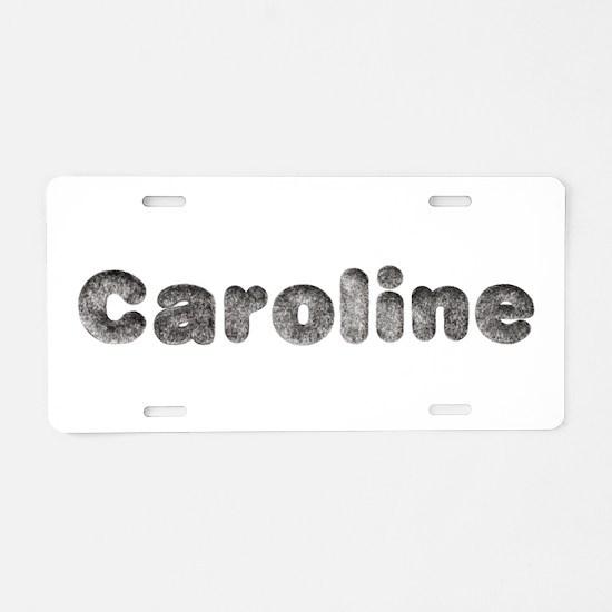 Caroline Wolf Aluminum License Plate