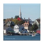 Portsmouth NH Waterfront Tile Coaster