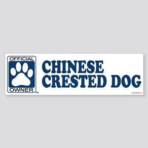 CHINESE CRESTED DOG Bumper Sticker