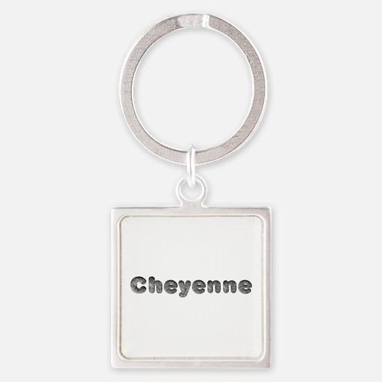 Cheyenne Wolf Square Keychain