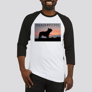 French Bulldog Sunset Baseball Jersey