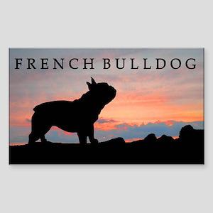 French Bulldog Sunset Rectangle Sticker