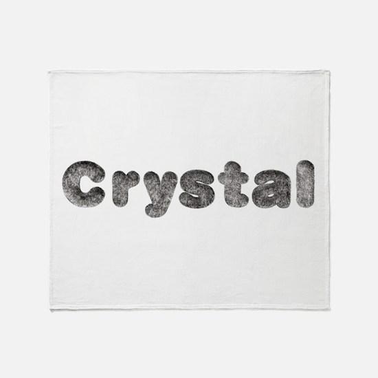 Crystal Wolf Throw Blanket