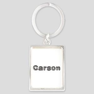 Carson Wolf Portrait Keychain