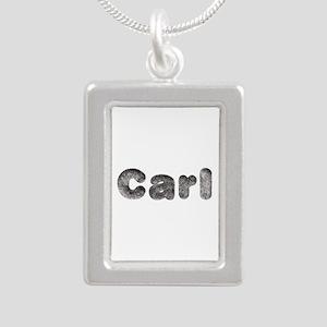 Carl Wolf Silver Portrait Necklace
