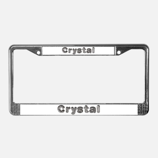 Crystal Wolf License Plate Frame