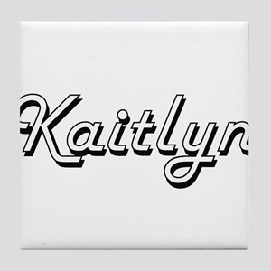 Kaitlyn Classic Retro Name Design Tile Coaster