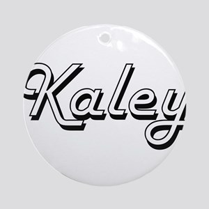 Kaley Classic Retro Name Design Ornament (Round)
