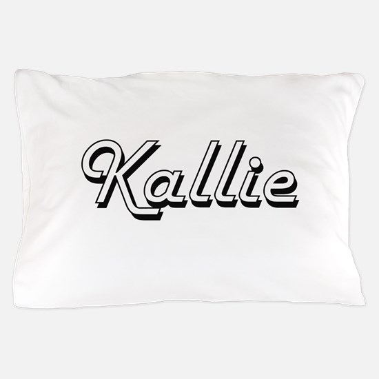 Kallie Classic Retro Name Design Pillow Case