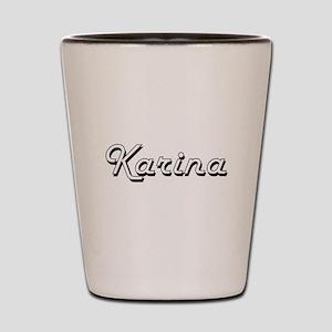 Karina Classic Retro Name Design Shot Glass