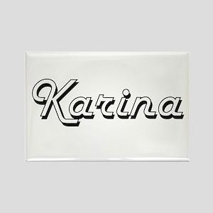 Karina Classic Retro Name Design Magnets