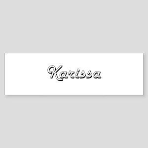 Karissa Classic Retro Name Design Bumper Sticker