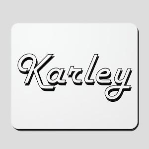 Karley Classic Retro Name Design Mousepad