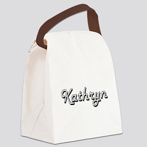 Kathryn Classic Retro Name Design Canvas Lunch Bag