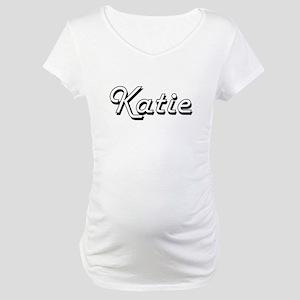 Katie Classic Retro Name Design Maternity T-Shirt