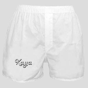 Kaya Classic Retro Name Design Boxer Shorts